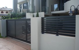 swinging gates are higher in height compared to slide gates